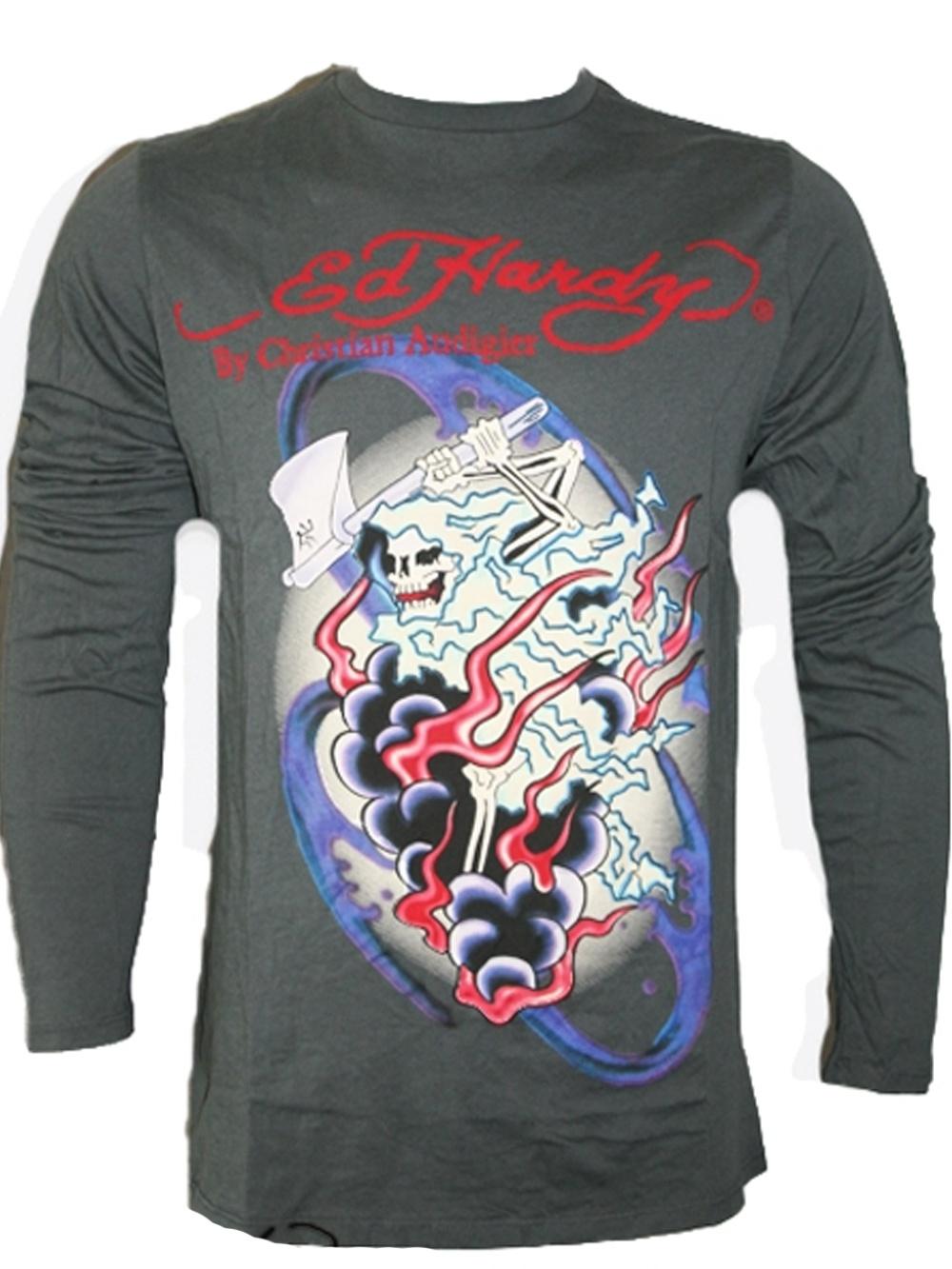 Ed Hardy Herren Langarm Shirt (S)