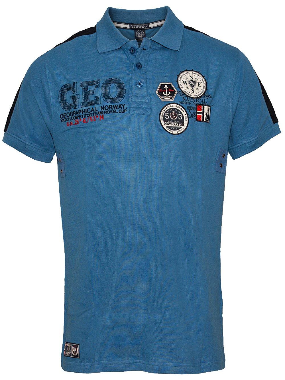 42787457c40b15 Herren Poloshirt Katal (blau) - Geographical Norway 11759 ...