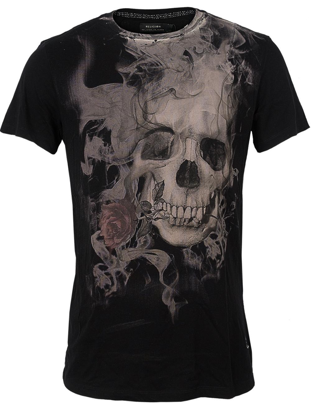 e218d979007540 Herren Shirt Smokey Skull (schwarz) » Religion Shirts günstig online ...