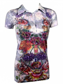 Christian Audigier Damen Polo Shirt (XS)