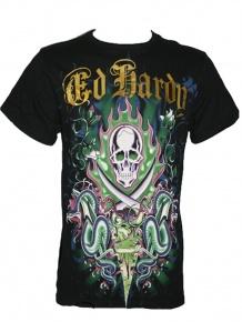 Ed Hardy Herren Multiprint Shirt 2Sword Snakes (S) Sale Angebote Lieskau
