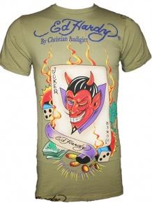 Ed Hardy Herren Shirt The Joker (S) Sale Angebote Groß Döbbern