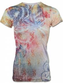 Sinful Damen T-Shirt Eagle Snake (S)