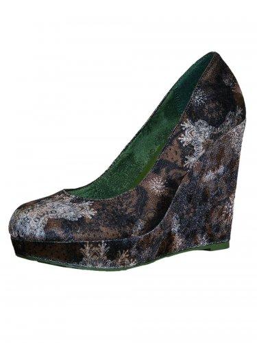 Damen Schuh Shiny braun