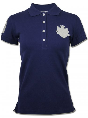 Damen Strass Polo Shirt Golf Couture